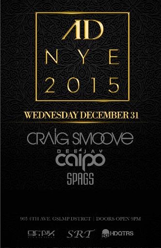 New Years Eve 2015 at AD