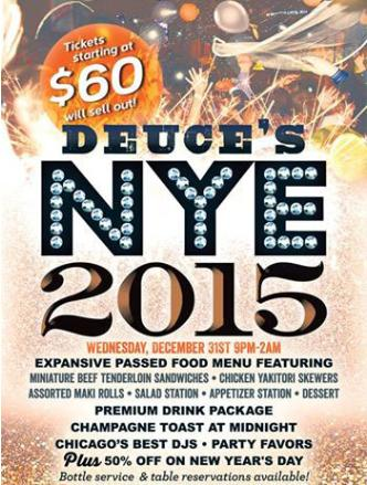 2015 NYE  at Deuce's