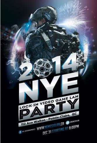 NYE Video Game Lock-In Party