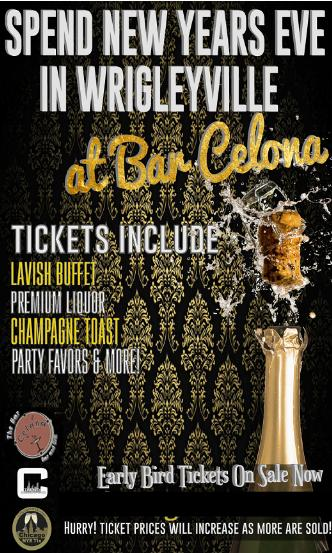 NYE at Bar Celona Wrigleyville