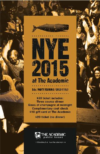 NYE 2015 at The Academic