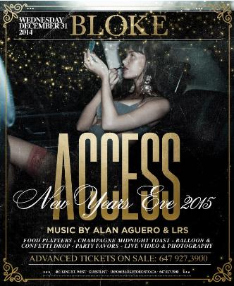 ACCESS - NYE 2015 INSIDE BLOKE