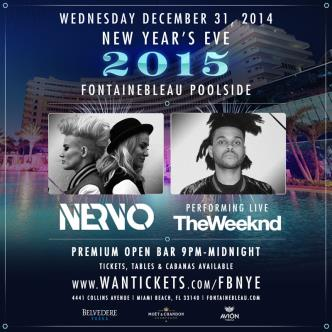 NYE 2015 at Fontainebleau Pool