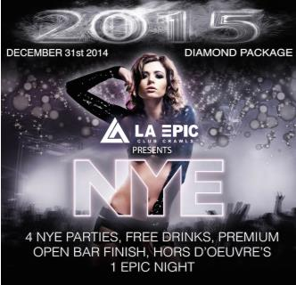 NYE 2014/2015 Diamond Package
