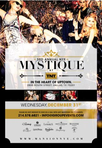 MYSTIQUE NEW YEARS EVE 2015