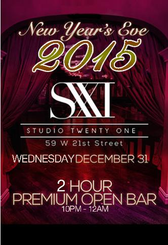 Studio XXI New Year's Eve 2015