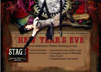NYE at STAGE NIGHTCLUB