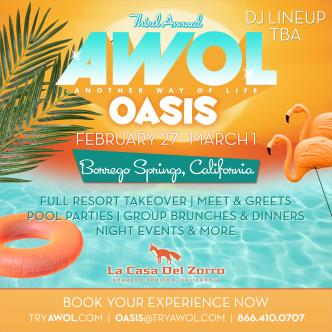 AWOL Oasis - 3 Person Packages-img
