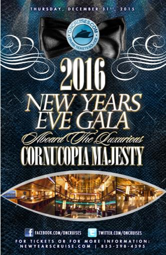 2016 New Year's Eve Gala - Cornucopia Majesty Yacht