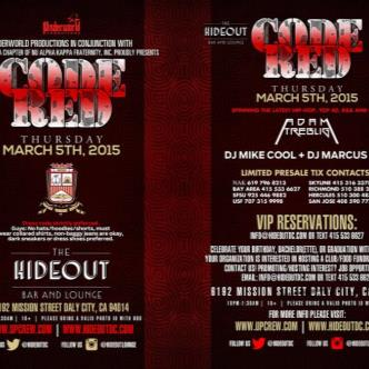 Code Red | March 5th @ The Hideout-img