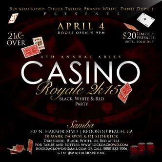 4th Annual Aries Casino Royale 2k15.... Red, Black, & White-img
