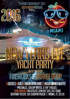 Miami Fireworks New Years Yacht Party 2016