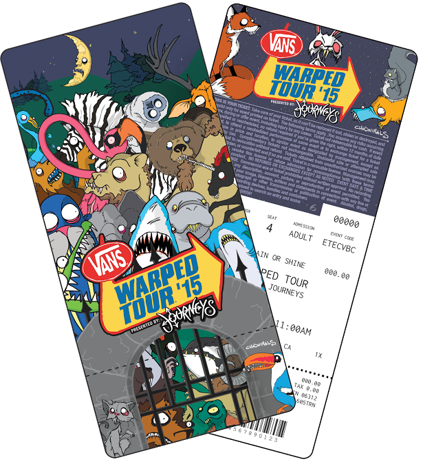 Vans warped tour tickets 070115 event details vans warped tour general admission ticket m4hsunfo
