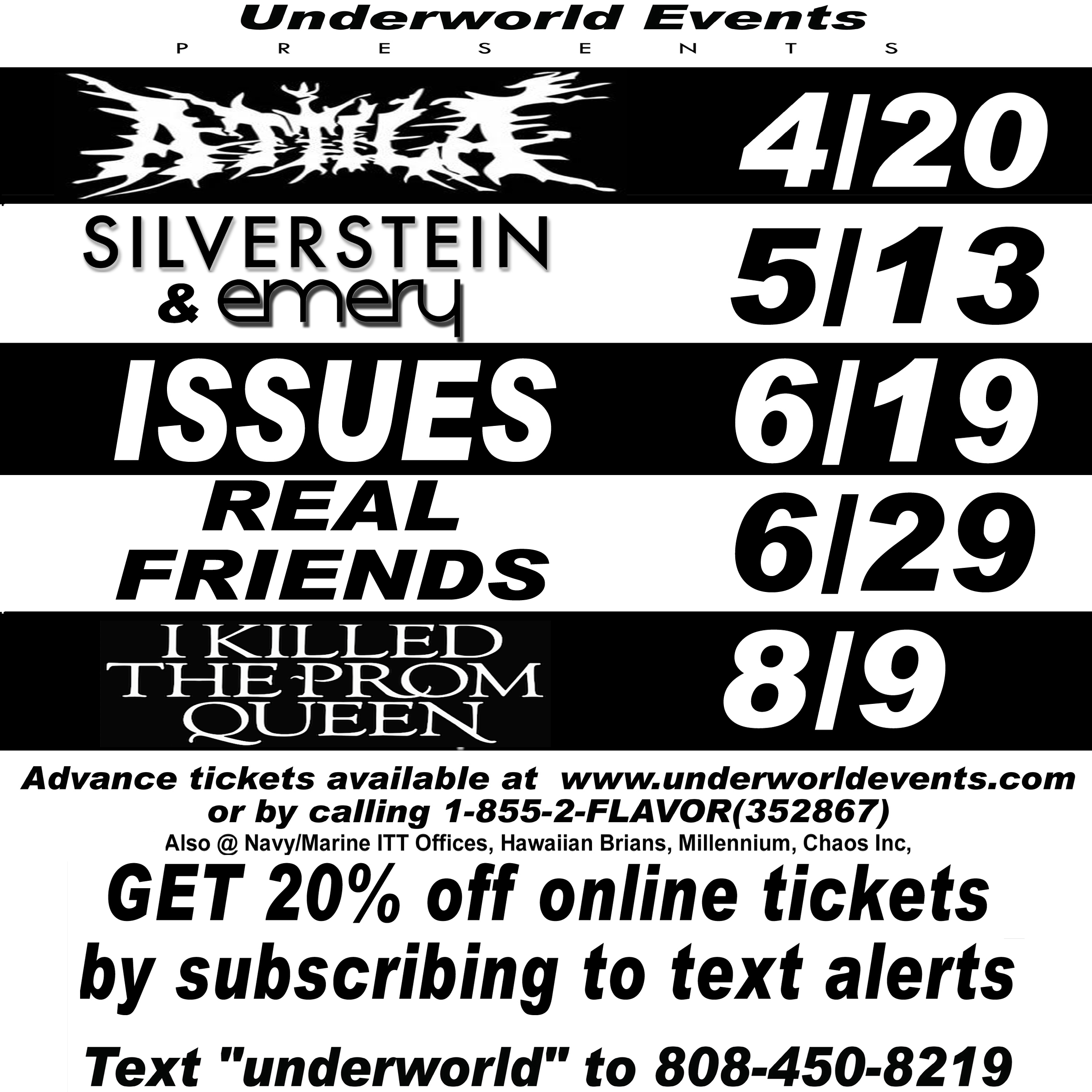 Underworld Events: Main Image